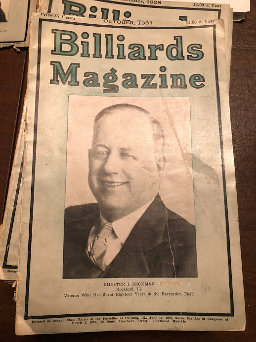Billiards Magazine October 1931