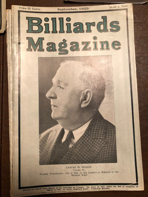 Billiards Magazine September 1929
