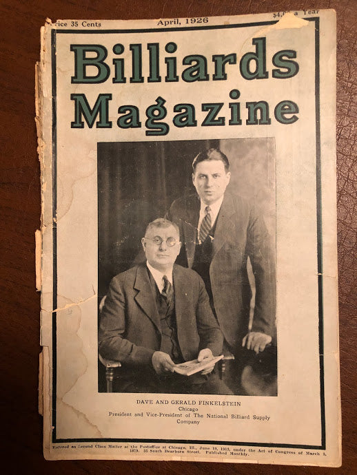 Billiards Magazine April 1926