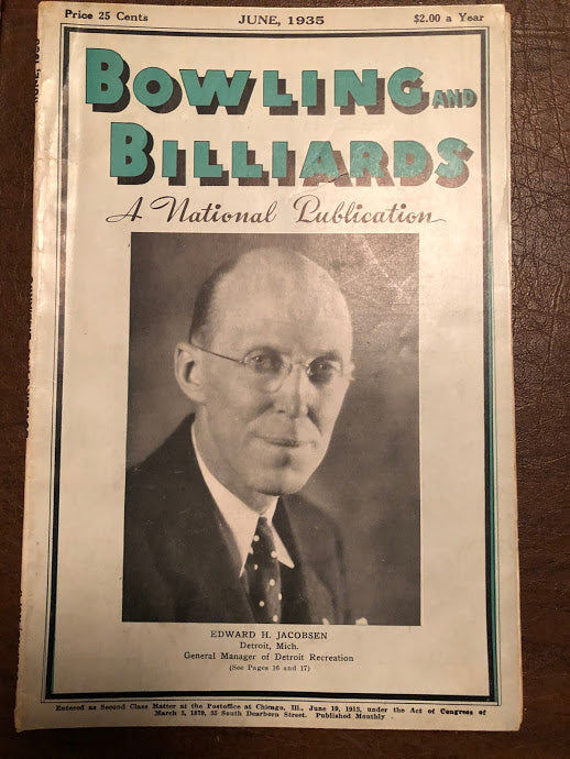 Bowling and Billiards June 1935