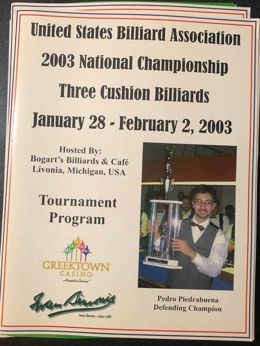 2003 US National 3-Cushion Championship Tournament Program