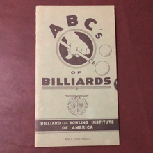 Load image into Gallery viewer, ABCs of Billiards. Rare 1948 Booklet