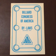 Load image into Gallery viewer, Billiard Congress of American. Revised 1976 By-Laws. Very Rare