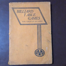 Load image into Gallery viewer, Billiard Table Games for Tables of All Sizes Circa 1940s