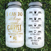 Load image into Gallery viewer, All Things Through Christ Water Bottle | 34oz