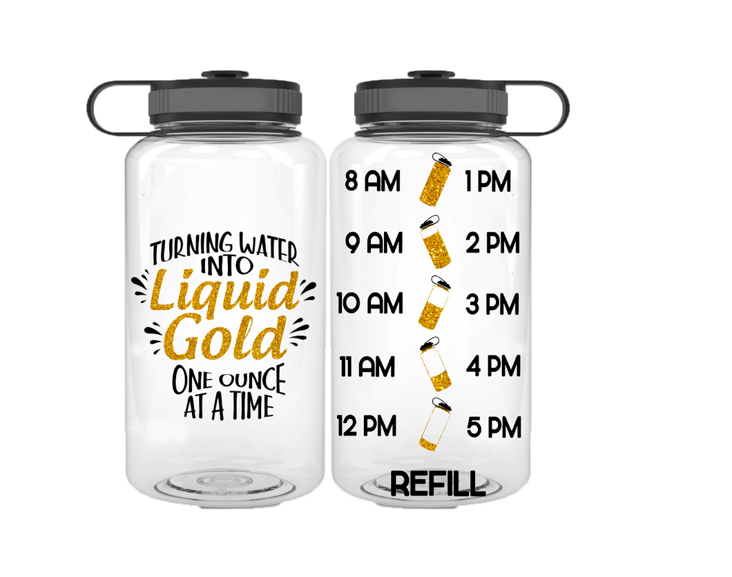 Turning Water Into Liquid Gold Water Bottle | 34oz