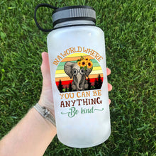 Load image into Gallery viewer, Be Kind Elephant Water Bottle | 34oz