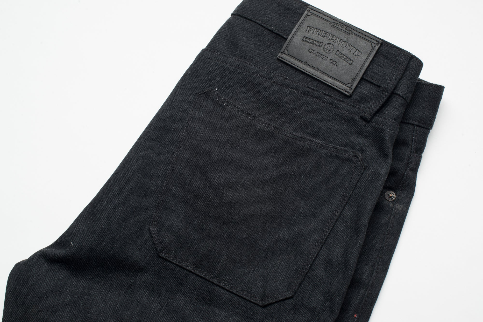 Portola Taper Raw 14.25 oz Black Grey Japanese Denim Back Right