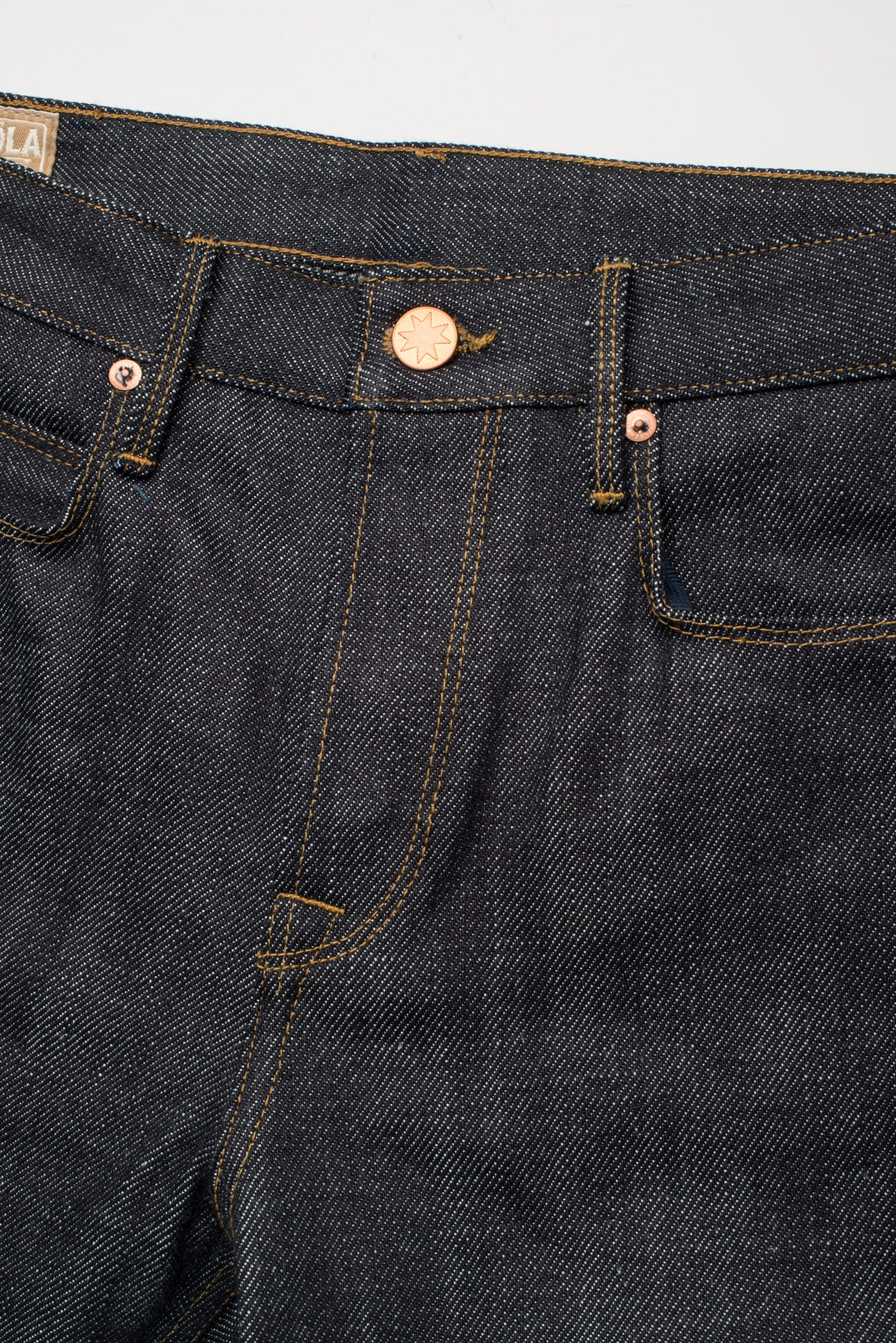 Portola Taper Raw 20 oz Japanese Denim Button