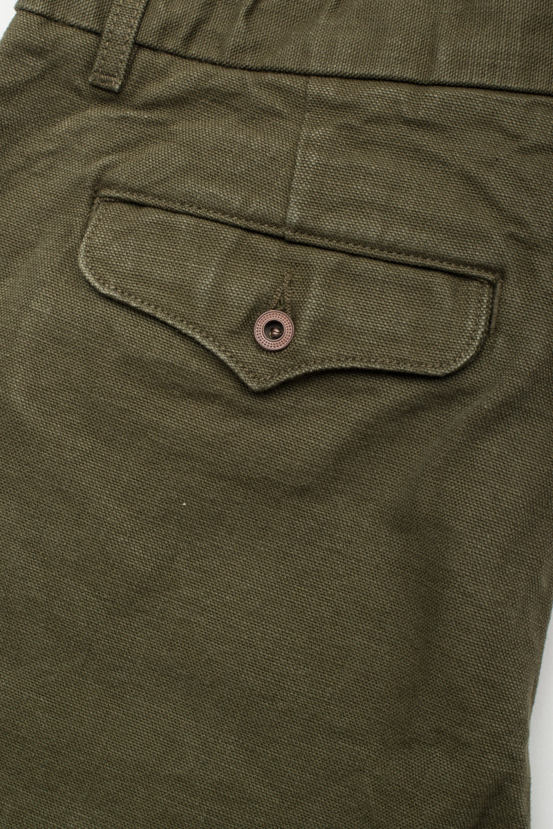 Workers Chino Slim Fit <span> 14 Ounce Slub Army Green </span>