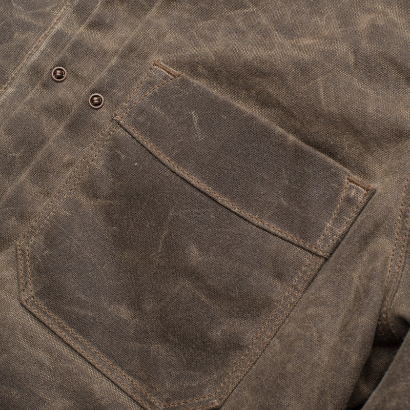 Riders Jacket Waxed Canvas <span>Oak</span>