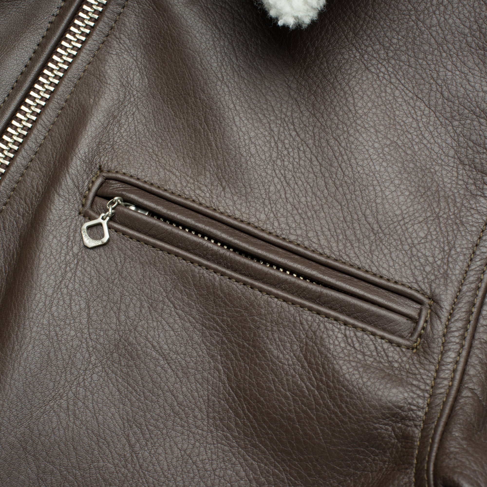 FJ1 Brown Leather Front Pocket