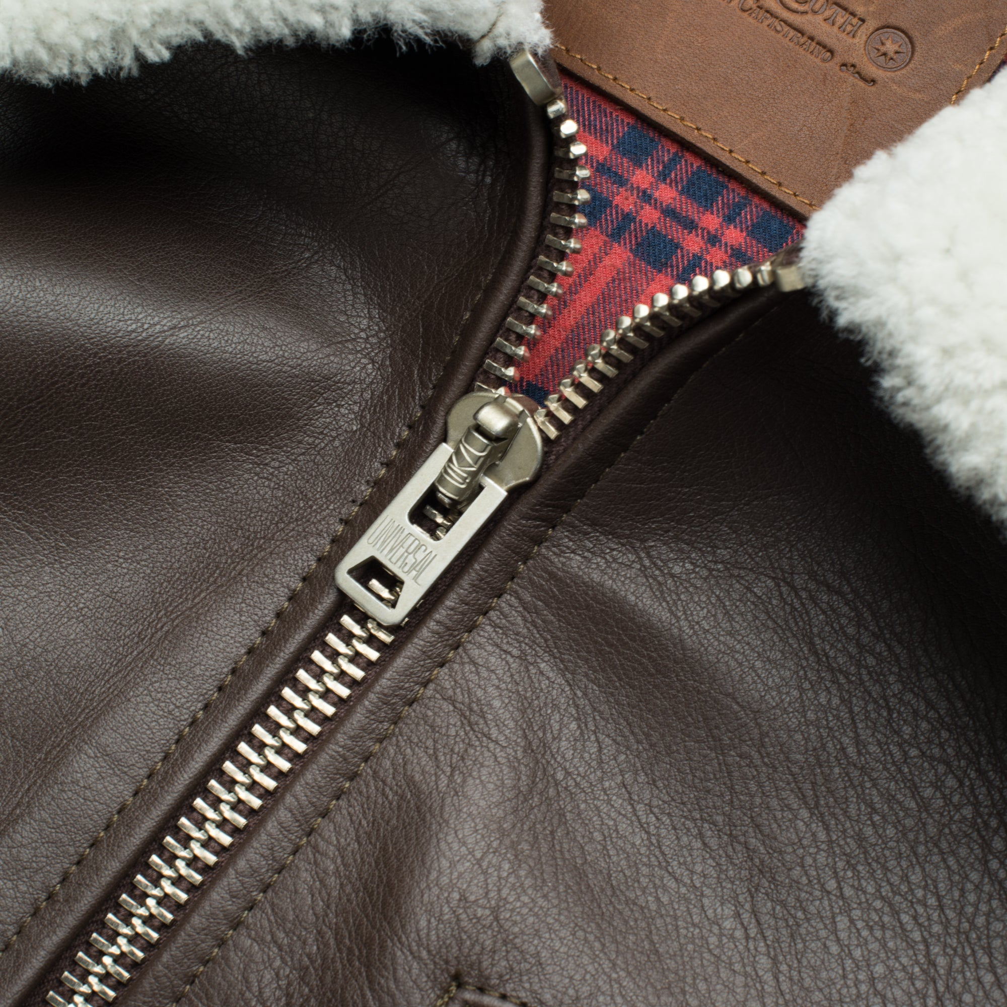FJ1 Brown Leather Zipper