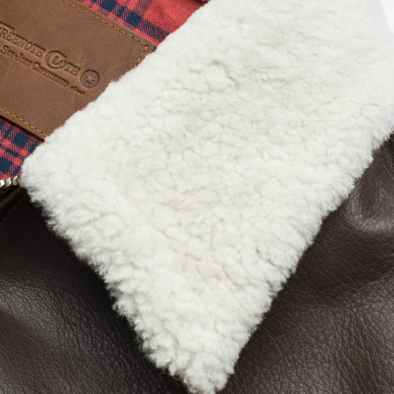 FJ1 Brown Leather Shearling