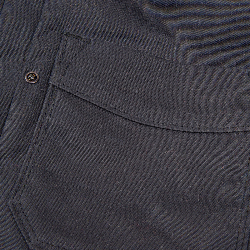 Riders Jacket Waxed Canvas <span>Black Grey Interior</span>