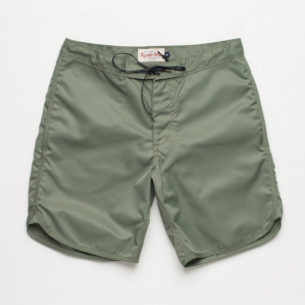 Freenote Cloth | Standard Issue Boardshort - Olive | $150