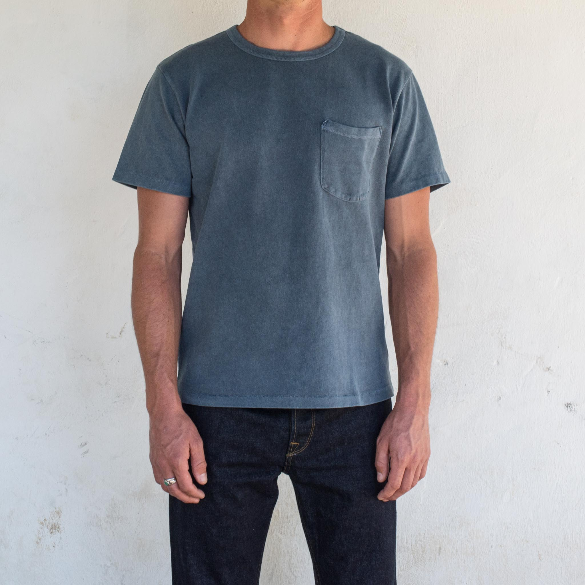 Vintage Wash Pocket T-Shirt <span>Faded Blue</span>