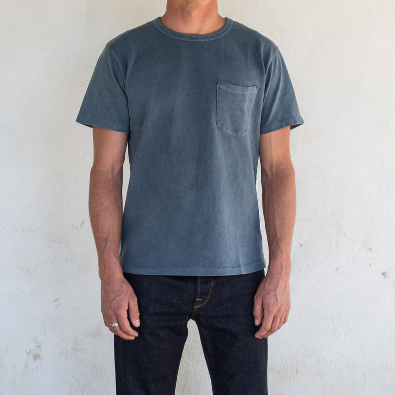 13 Ounce Pocket T-Shirt <span>Faded Blue</span>