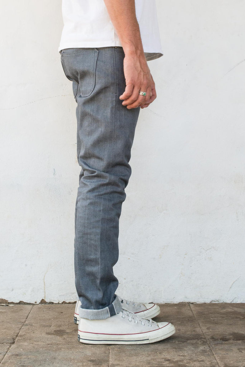 Avila Slim Taper <span> 13 Ounce Grey Denim</span>