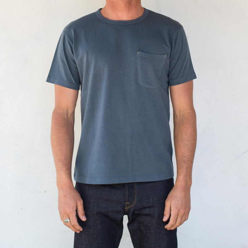 9 Ounce Pocket T-Shirt <span> Blue </span>