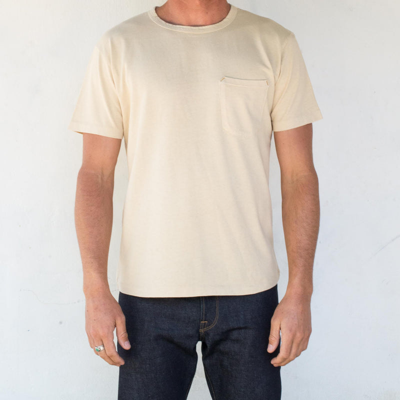 9 Ounce Pocket T-Shirt <span> Cream </span>