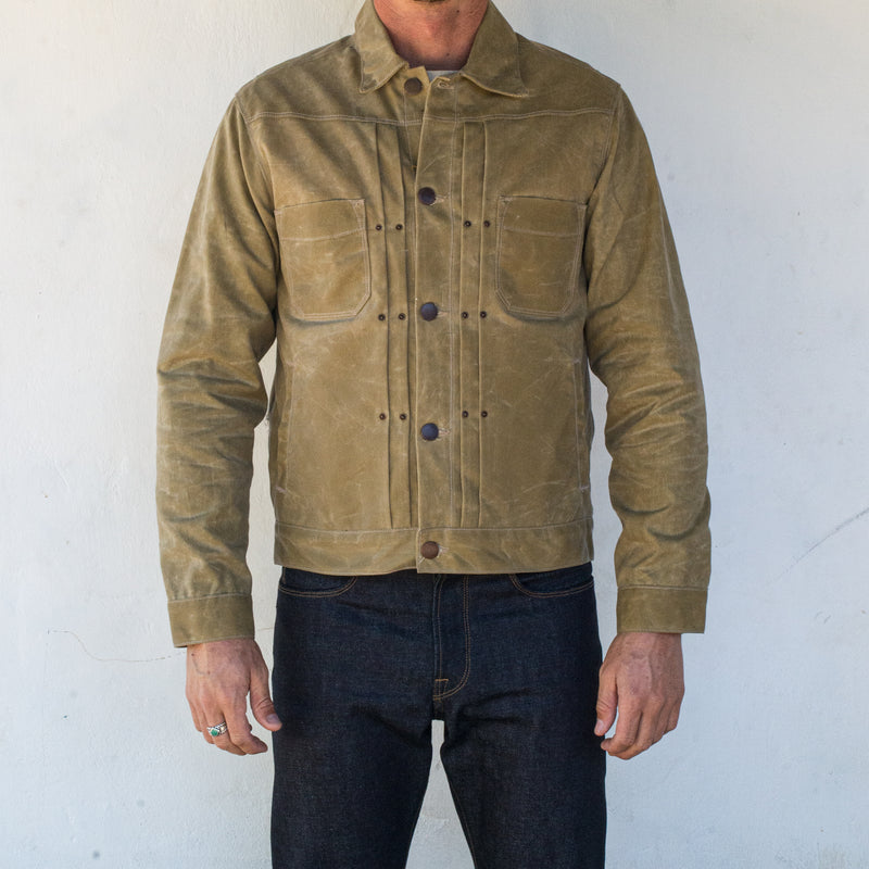 Riders Jacket Waxed Canvas <span>Tobacco</span>