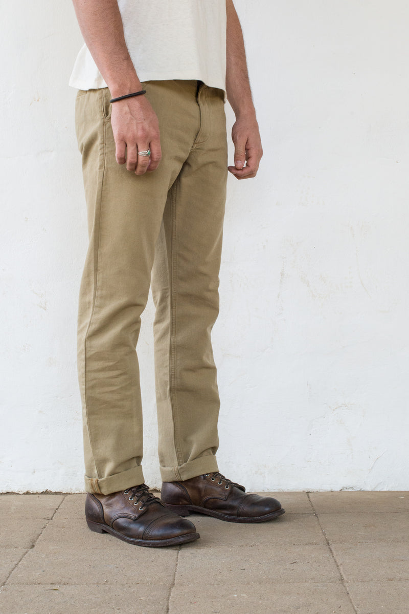 Freenote Cloth | Workers Chino Slim Fit - Khaki | $210