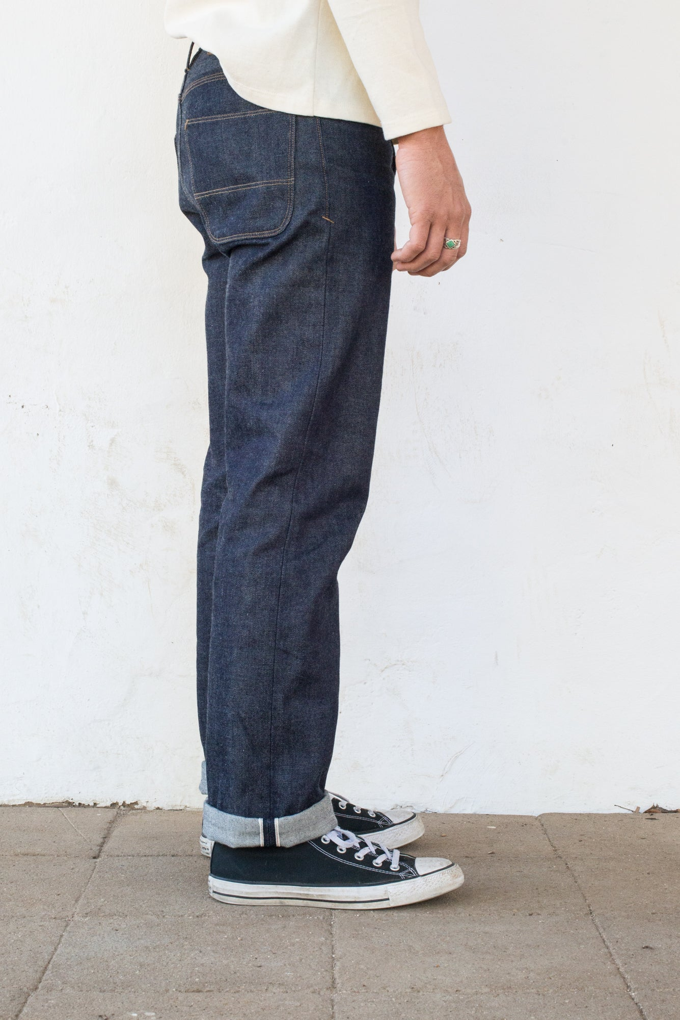 Freenote Cloth | Belford Straight 15 ounce Indigo | $265