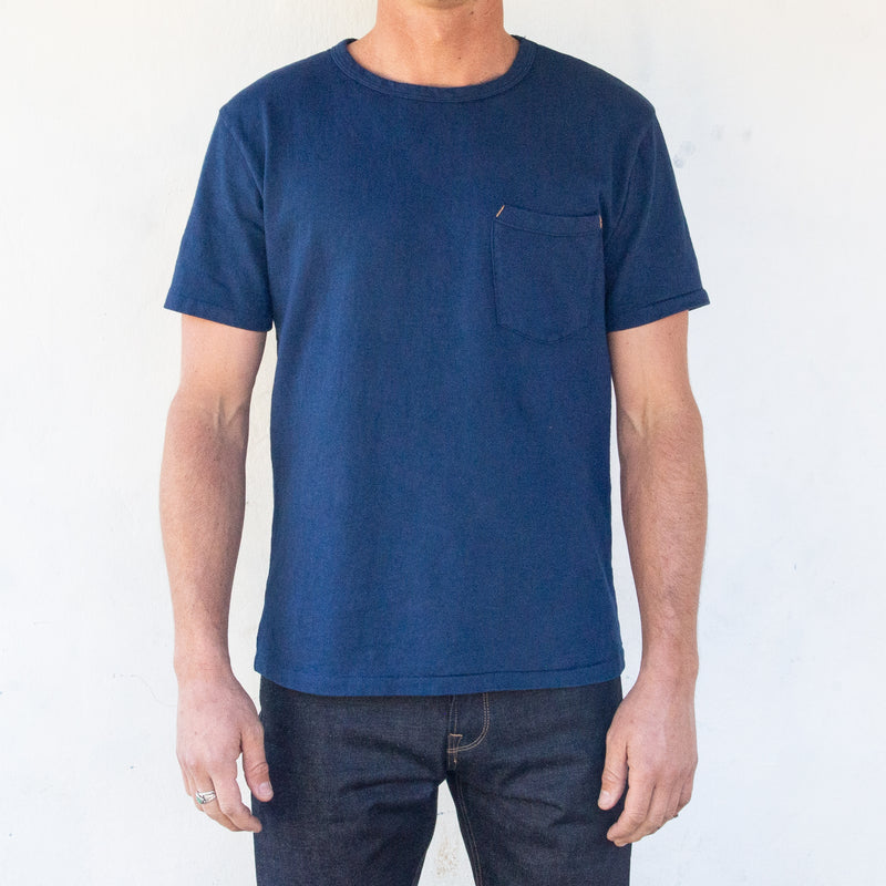 13 Ounce Pocket T-Shirt <span> Navy </span>