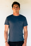 FREENOTE CLOTH | Vintage Wash Pocket Tee | Faded Blue $65