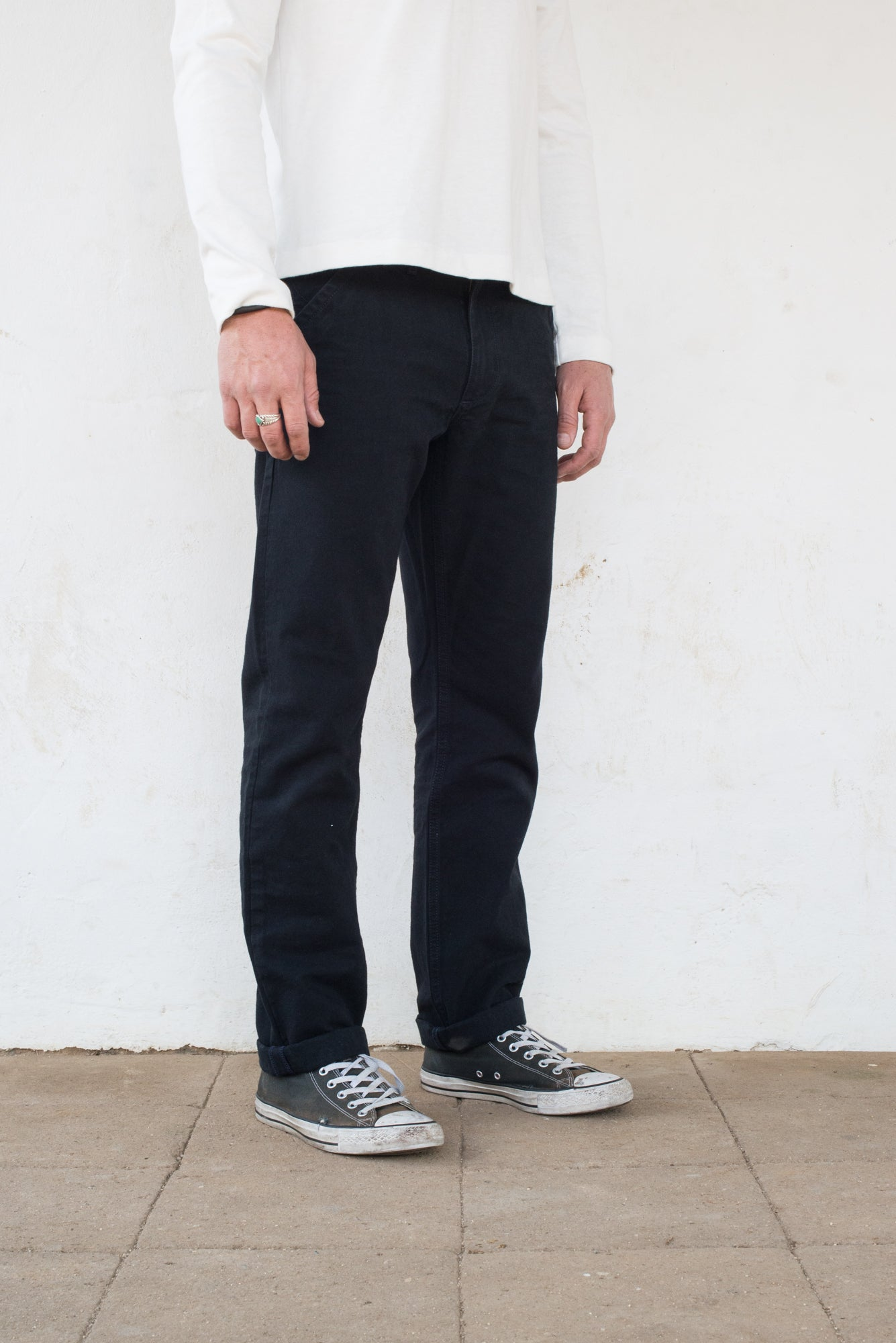 Workers Chino Slim Fit black profile side