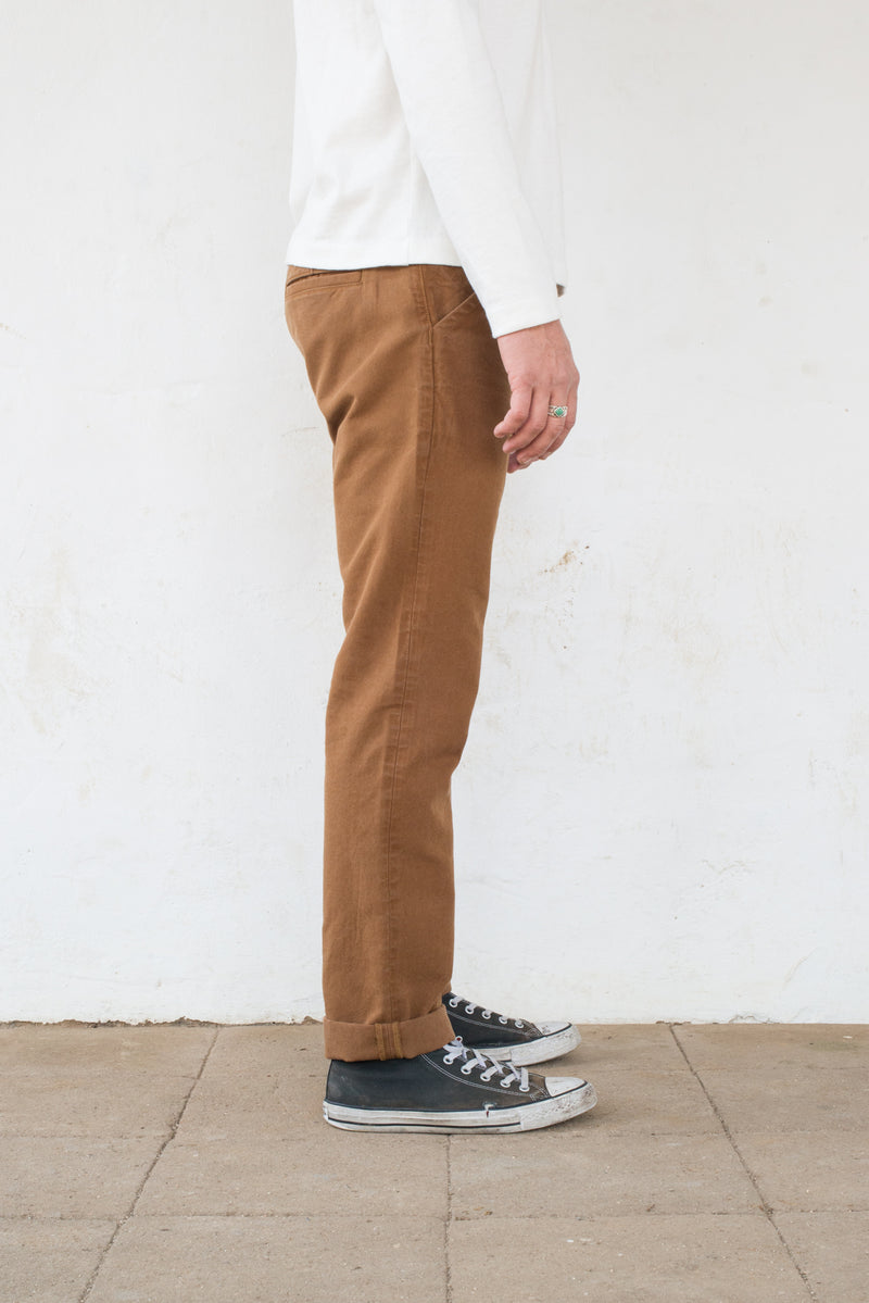 Workers Chino Slim Fit Rust side profile
