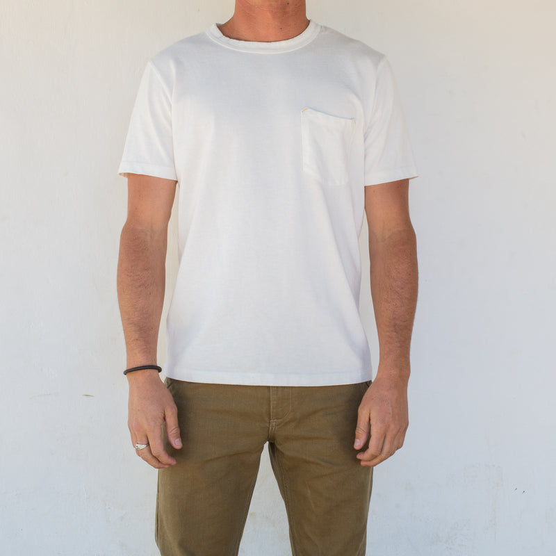 13 OUNCE WHITE T-SHIRT On Body