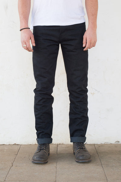 Freenote Cloth | Portola Taper - Raw 14.25 oz Black Grey Denim | $250