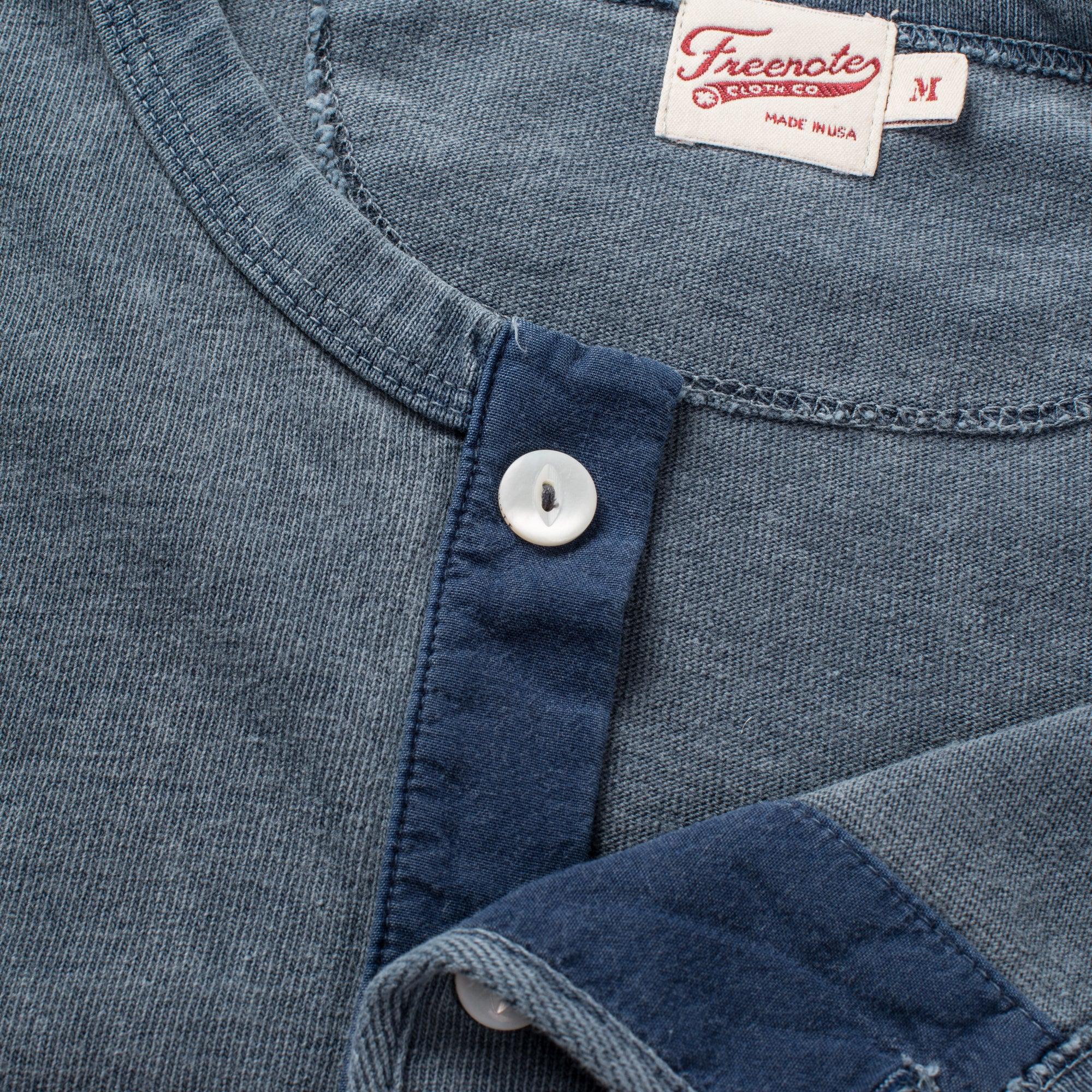 13 ounce Henley LS Faded Blue Enclosure