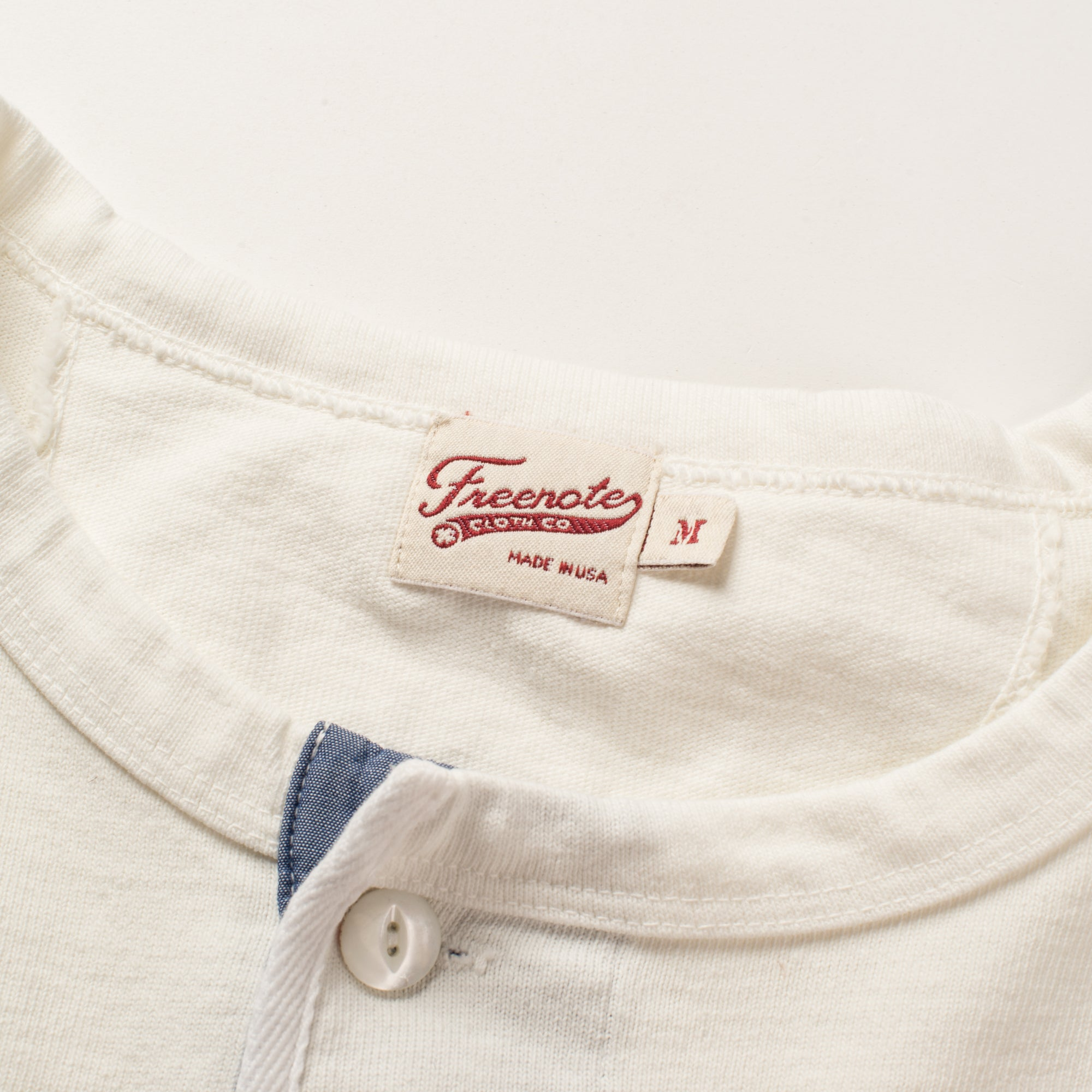 13 OUNCE HENLEY WHITE Tag