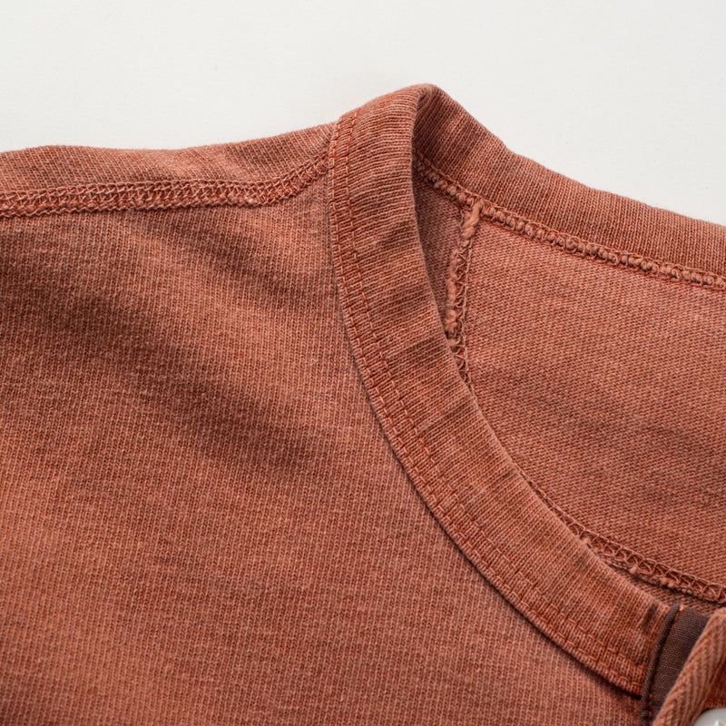 13 OUNCE HENLEY RUST collar