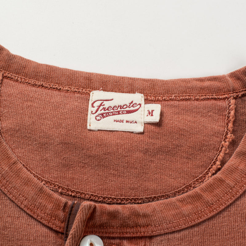 13 OUNCE HENLEY RUST tag