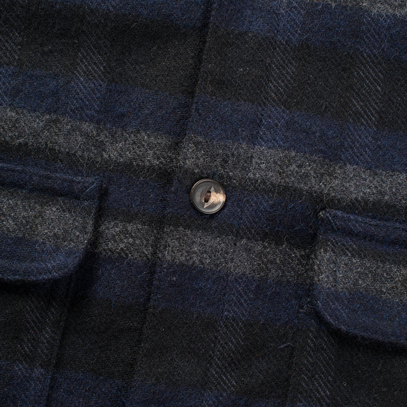 Alta Navy button detail