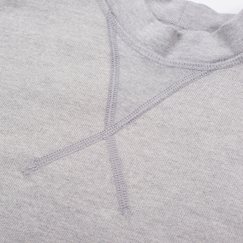 Deck Sweatshirt Heather Grey Ribbing Detail