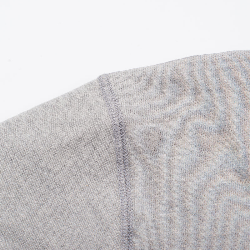 Deck Sweatshirt Heather Grey Flat Seam