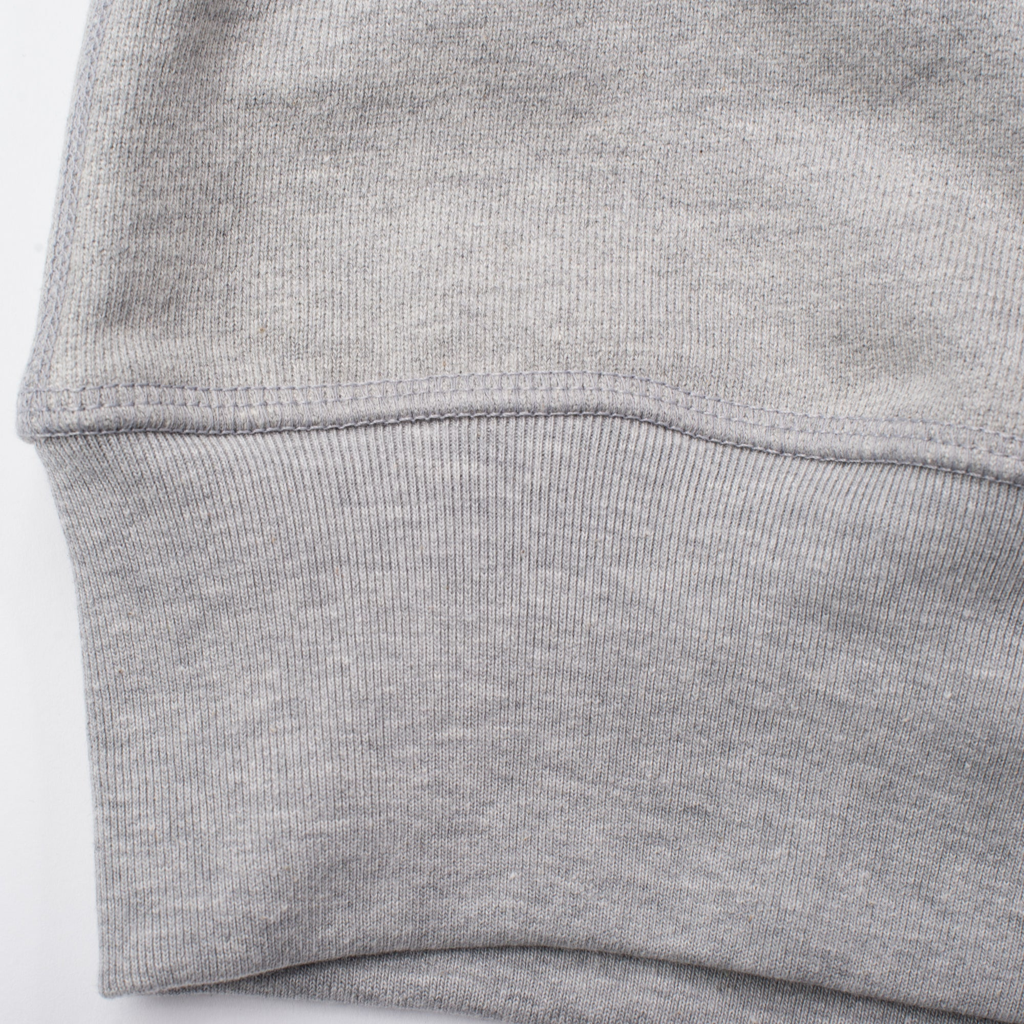 Deck Sweatshirt Heather Grey Ribbing