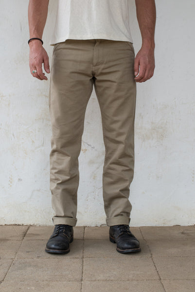 Freenote Cloth | Workers Chino Slim Fit - Khaki | $220