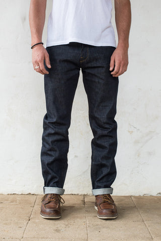 Freenote Cloth | Portola Taper - Raw 14.75oz Cone Mill Denim | $230