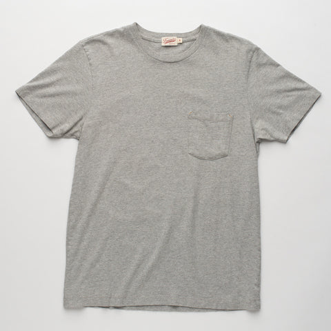 Freenote Cloth | Heavy Gauge Pocket T-shirt - Athletic Heather | $65