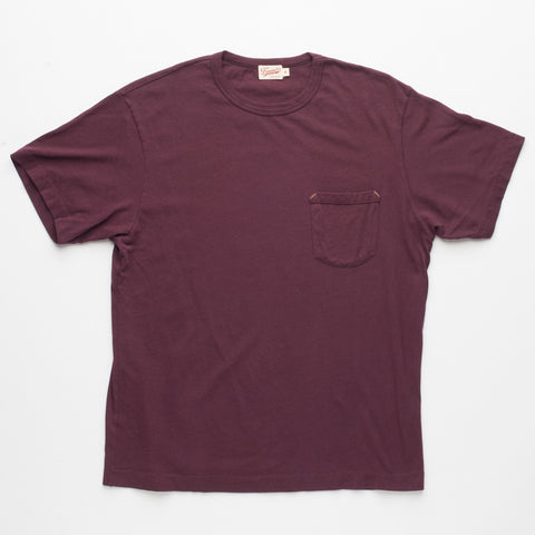 Freenote Cloth | Heavy Gauge Pocket T-Shirt - Burgundy | $65