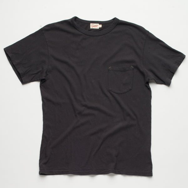 Freenote Cloth | Heavy Gauge Pocket T-shirt - Midnight | $65