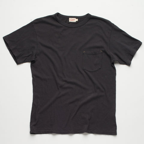 Freenote Cloth | Heavy Gauge Pocket T-shirt - Black | $65