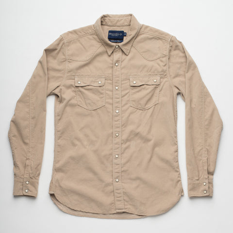 Freenote Cloth | Modern Western - Tan Corduroy | $240