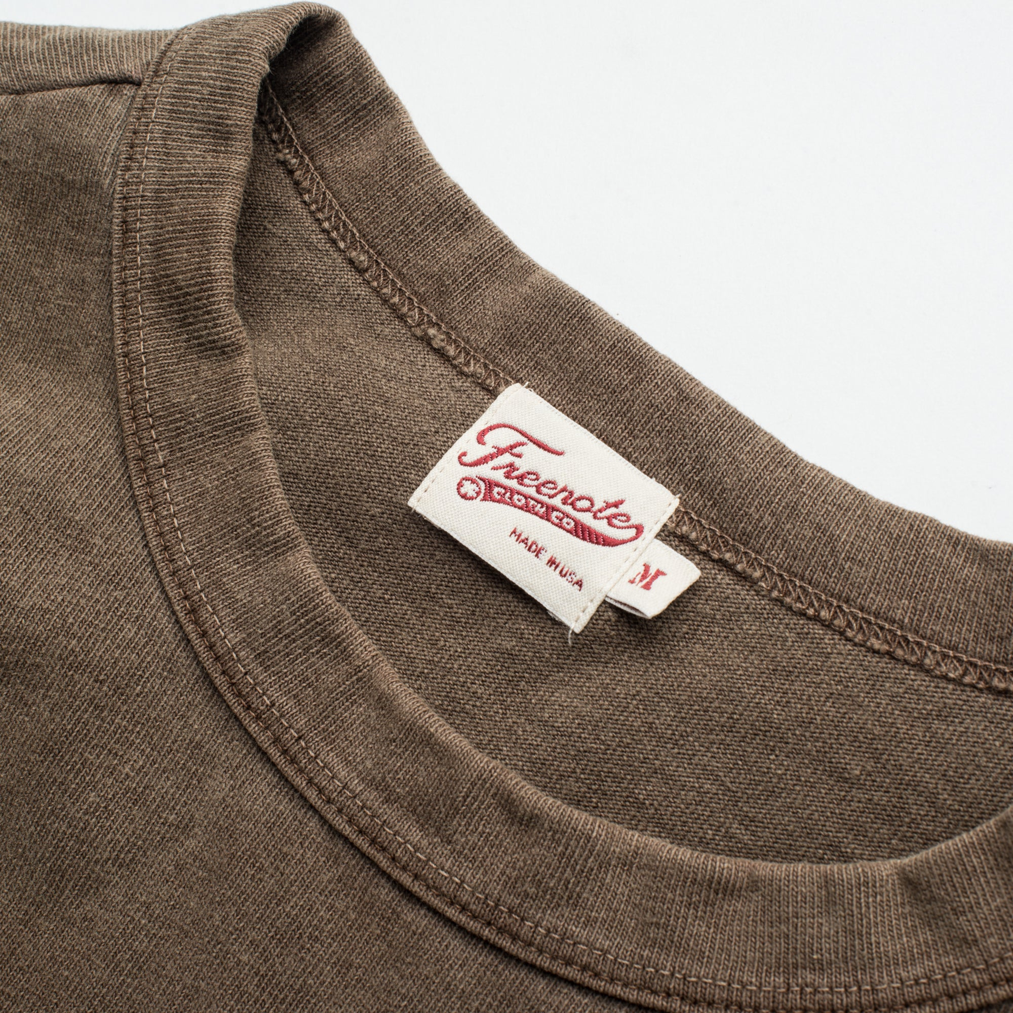 13 OUNCE T-SHIRT DARK OLIVE Tag